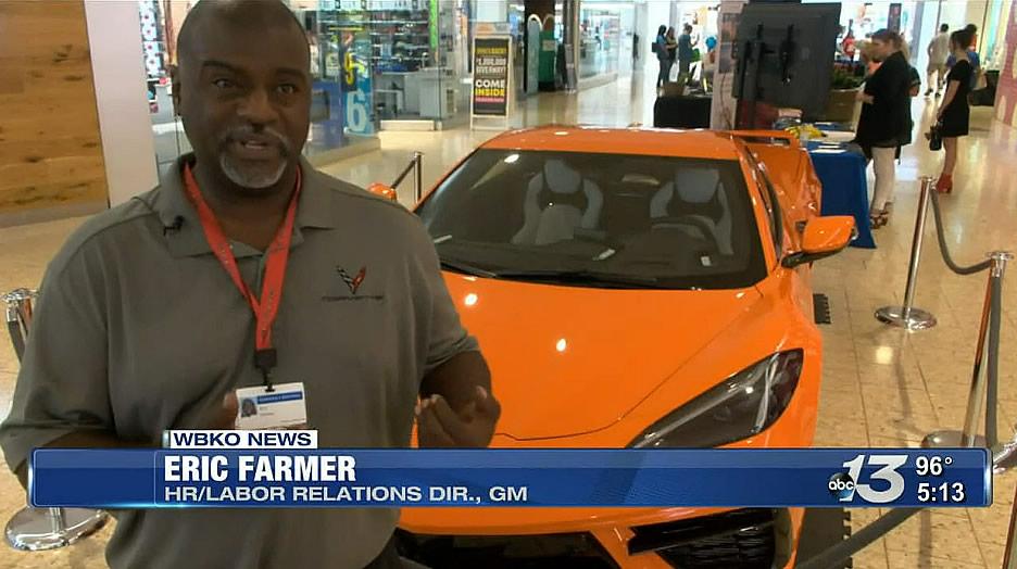 2022 Corvette in Amplify Orange Tintcoat