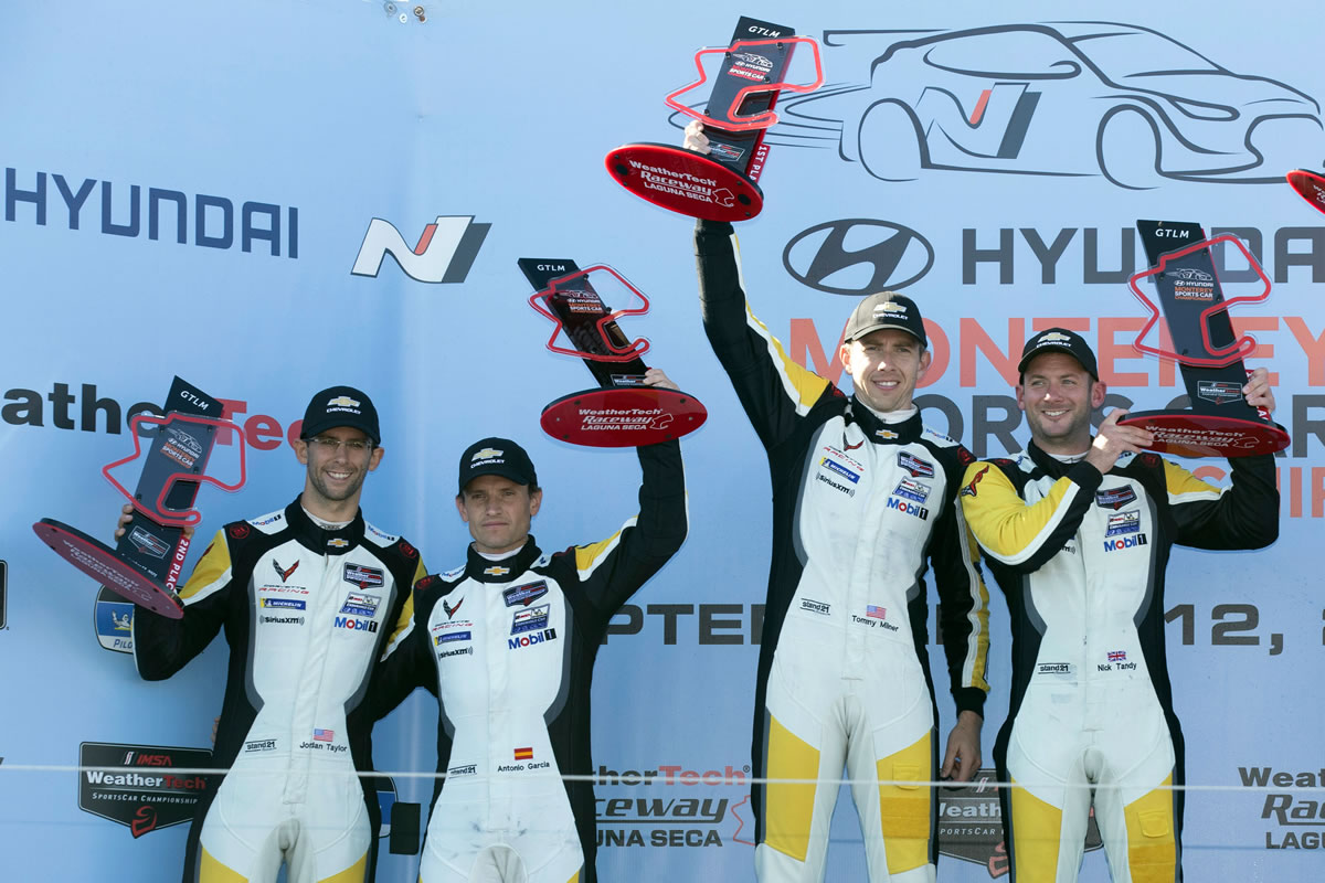 Corvette Racing Team at Laguna Seca